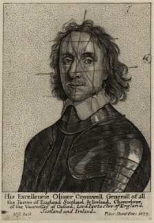 Oliver Cromwell, by Richard Gaywood, published by  Peter Stent - NPG D28675