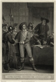 Oliver Cromwell dissolving the Long Parliament, by Joseph Collyer the Younger, after  Thomas Stothard - NPG D28686