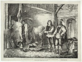 Oliver Cromwell and Henry Ireton, by John Cawse - NPG D28697