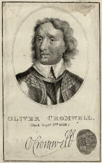 Oliver Cromwell, by Burnet Reading - NPG D28698