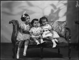 Lady Kinnoull's three children, by Bassano Ltd - NPG x152494
