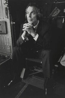 Tony Blair ('Helicopter Flight from RAF Lyneham to Battersea'), by Nick Danziger, 3 April 2003 - NPG P1297 - © Nick Danziger