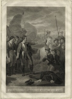Oliver Cromwell suppressing the Mutiny in the Army, by Joseph Thomson, after  Robert Smirke - NPG D28699