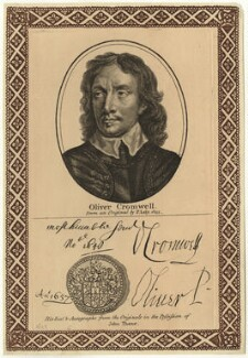 Oliver Cromwell, after Sir Peter Lely, published by  John Thane - NPG D28713