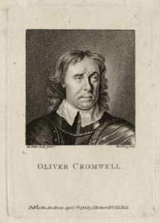 Oliver Cromwell, by Edward Harding, published by  Isaac Herbert, after  Sir Peter Lely - NPG D28718