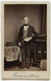 Henry John Temple, 3rd Viscount Palmerston, by William Walker & Sons - NPG x46633