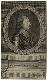 Oliver Cromwell, by Gerard Vandergucht, after  Samuel Cooper - NPG D28725