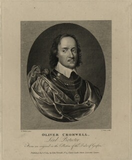 Oliver Cromwell, by James Stow, after  Robert Walker - NPG D28734