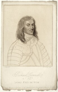 Richard Cromwell, by William Nelson Gardiner, after  Silvester (Sylvester) Harding, after  Samuel Cooper - NPG D28745