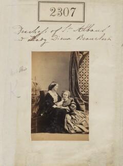 Elizabeth Catherine (née Gubbins), Viscountess Falkland; Diana de Vere (née Beauclerk), Lady Huddleston, by Camille Silvy - NPG Ax51695