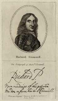 Richard Cromwell, after Robert Walker, published by  John Thane - NPG D28750