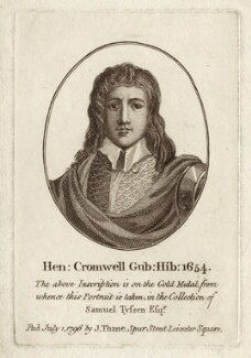 Henry Cromwell, after Unknown artist, published by  John Thane - NPG D28753