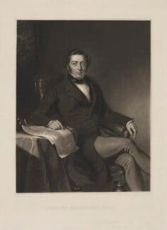 Robert Stephenson, by John Richardson Jackson, published by  Henry Graves & Co, after  John Lucas, published 1 March 1846 - NPG D9168 - © National Portrait Gallery, London