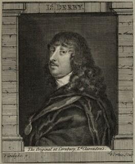 James Stanley, 7th Earl of Derby, by George Vertue, after  Sir Anthony van Dyck - NPG D28768