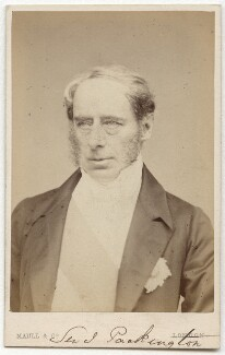 John Somerset Pakington, 1st Baron Hampton, by Maull & Co, published by  Richard Smith, circa late 1860s - NPG x45086 - © National Portrait Gallery, London