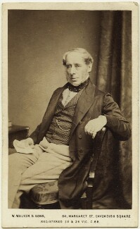 John Somerset Pakington, 1st Baron Hampton, by William Walker & Sons, 1864 - NPG Ax8620 - © National Portrait Gallery, London