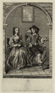 John Egerton, 2nd Earl of Bridgewater and Elizabeth Egerton (née Cavendish), Countess of Bridgewater, after Abraham Diepenbeeck, published by  John Thane - NPG D28778