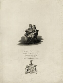 William Cavendish, 1st Duke of Newcastle-upon-Tyne and Margaret Cavendish (née Lucas), Duchess of Newcastle upon Tyne, by James Mitan, after  Peeter Clouwet - NPG D28779