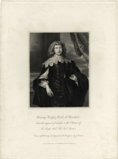 George Digby, 2nd Earl of Bristol, by James Thomson (Thompson), after  Sir Anthony van Dyck - NPG D28787