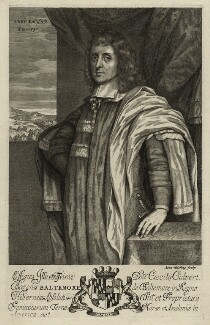 Cecil Calvert, 2nd Baron Baltimore, by Abraham Blooteling (Bloteling) - NPG D28801