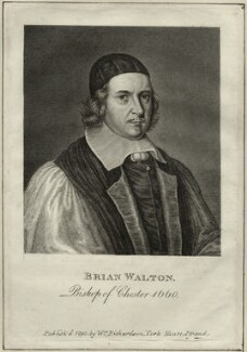 Brian or Bryan Walton, after Unknown artist, published by  William Richardson - NPG D28807