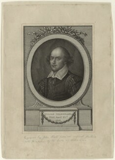 William Shakespeare, by John Hall, probably after  John Taylor - NPG D32488
