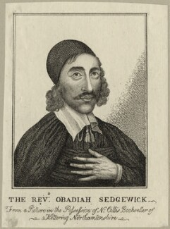 Obadiah Sedgwick, after Unknown artist, published by  William Richardson - NPG D28863