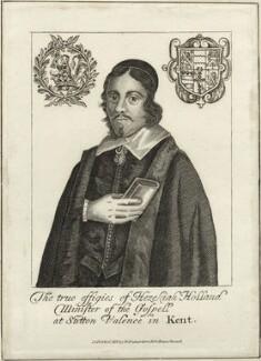 Hezekiah Holland, after Unknown artist, published by  William Richardson - NPG D28876