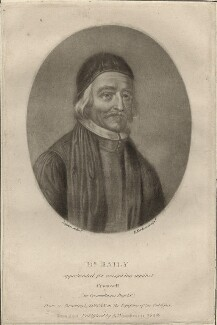 Thomas Bailey, by Richard Earlom, after  David Loggan, published by  Samuel Woodburn - NPG D28878
