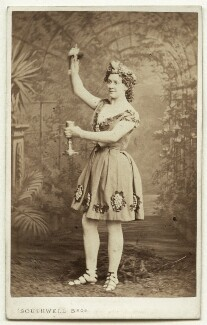 Fanny Wright (Mrs Williams) as Bacchus in 'Bacchus and Ariadne', by Southwell Brothers, published by  A. Marion, Son & Co - NPG x27549