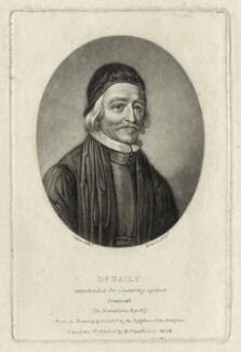 Thomas Bailey, by Richard Earlom, after  David Loggan, published by  Samuel Woodburn - NPG D28879
