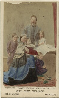 The Emperor and Empress of Germany with their children, by Hills & Saunders, published by  A. Marion, Son & Co - NPG Ax46753