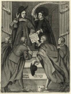 John Thurloe; Hugh Peter (Peters); Paul van der Parre; William Nieupoort; Hieronymus van Beverningk; Allard Peter Jongstall, by William Sherwin - NPG D28894