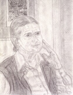 Doris Lessing, by Leonard William McComb - NPG 6517(1)