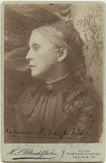 Katharine Sarah Macquoid (née Thomas), by Hayman Seleg Mendelssohn - NPG x20464