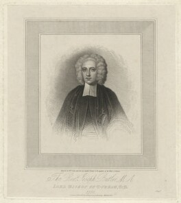 Joseph Butler, by Robert Cooper, after  Unknown artist - NPG D32492