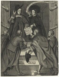John Thurloe; Hugh Peter (Peters); Paul van der Parre; William Nieupoort; Hieronymus van Beverningk; Allard Peter Jongstall, by William Sherwin - NPG D28916