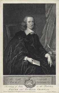 John Thurloe, by George Vertue, after  Unknown artist - NPG D28919