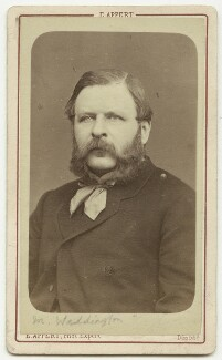William Henry Waddington, by Ernest Eugène Appert - NPG x27197
