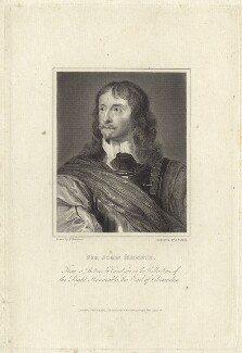 Sir John Mennes, by Charles Warren, after  John Thurston, after  Sir Anthony van Dyck - NPG D28960