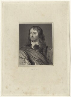 Sir John Mennes, by Charles Warren, after  John Thurston, after  Sir Anthony van Dyck - NPG D28961