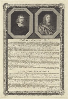 Sir Henry Slingsby, Bt and John Penruddock, by George Vertue - NPG D28972