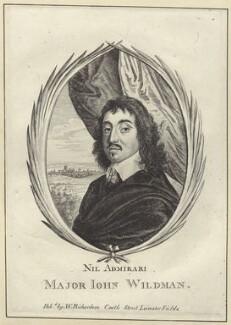 Sir John Wildman, after Wenceslaus Hollar, published by  William Richardson - NPG D28977