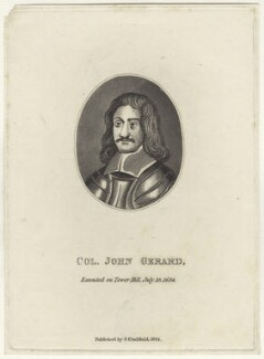 John Gerard, after Unknown artist, published by  James Caulfield - NPG D28983