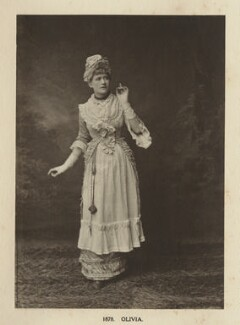 Ellen Terry as Olivia in 'Olivia', by Window & Grove, 1878, published 1906 - NPG Ax131300 - © National Portrait Gallery, London