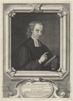 William Whiston, by George Vertue, after  Sarah Hoadly - NPG D32501