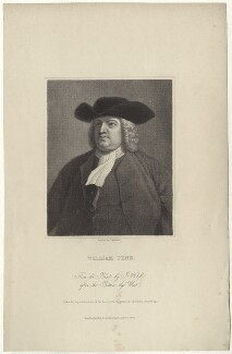 William Penn, by James Posselwhite, after  John Hall - NPG D28994