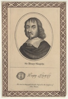 Sir Henry Slingsby, Bt, after Unknown artist, published by  John Thane - NPG D29000