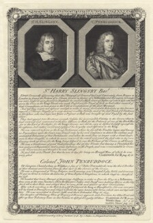 Sir Henry Slingsby, Bt and John Penruddock, by George Vertue - NPG D29001