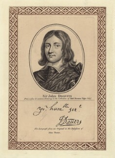 Sir John Danvers, after Unknown artist, published by  John Thane - NPG D29002